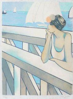 Jean-Pierre Cassigneul | Alnorum Art Grand Large Techniek: kleurenlitho  Jaar van uitgifte: 1977 Genummerd en handgesigneerd Afmetingen: 74 cm x 54 cm (papier)