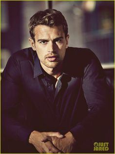 These's are on JustJared.com or Type in Theo James!