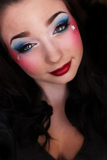 1000+ Ideas About Captain America Makeup On Pinterest | Captain America Nails Makeup And 4th Of ...