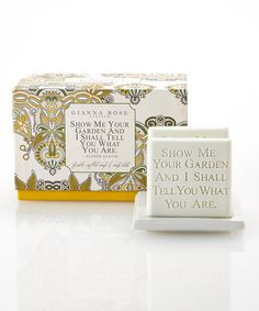 This 'Show Me Your Garden' Soap & Dish Set is perfect! #zulilyfinds