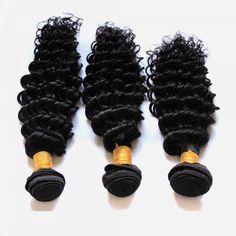 Ladies Fashion Human Hair Peruvian Deep Wave 3Pcs/Lot Weft 7A+ Grade