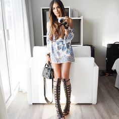My Summer style is always buckled to the knee, there's just something about gladiator sandals that give outfits a slightly more bohemian vibe. Share your summer style by posting your own picture using the hashtag #WeAreSummerReady and follow @boohooofficial to be in with a chance of winning £500 in cash. #sp