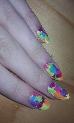 Rainbow nails!!!
