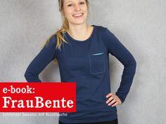 Nähanleitungen Mode - FrauBENTE Sweater mit (o. ohne) Brusttasche, ebook - ein Designerstück von schnittreif bei DaWanda