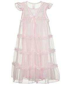 Laura Dare Little Girls Rosebud Jersey Traditional Sleep Robe 2t 6x