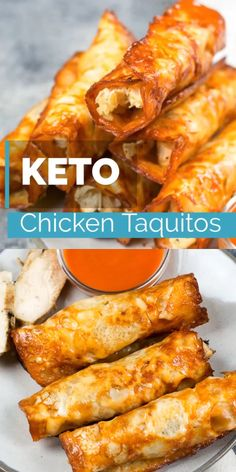 These Keto Buffalo Chicken Taquitos only have three ingredients can be made in under 10 minutes and have nearly no carbs! These Keto Buffalo Chicken Taquitos only have three ingredients can be made in under 10 minutes and have nearly no carbs! Ketogenic Recipes, Healthy Recipes, Healthy Food, Air Fryer Recipes Keto, Vegetarian Recipes, Atkins Recipes, Bariatric Recipes, Chicken Recipes For Diabetics, Keto Snacks