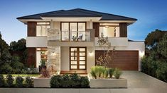 Facade photo of Vaucluse home design by Carlisle Homes Modern House Facades, Modern House Plans, Modern House Design, Modern Architecture, Carlisle Homes, Italian Home, New Home Designs, Facade House, House Front