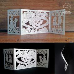 Yay! Una calavera con sombrero!  La Catrina  Delicate paper cutting piece by PapelitoHabla http://etsy.me/1UT0LK8 via #Etsy