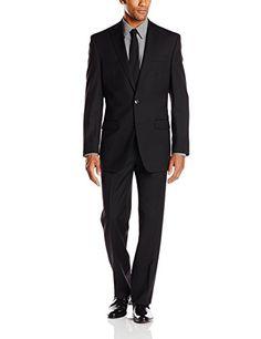 Calvin Klein Men's Herringbone Tonal 2 Button Side Vent Slim Fit Suit, Black, 38 Short Calvin Klein http://www.amazon.com/dp/B0102EGW1Y/ref=cm_sw_r_pi_dp_GvhDwb0JGFPYG