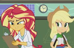 MLP. The Science of Magic. Sunset Shimmer and Applejack. Uploaded by SUNSET SHIMMER ♥️