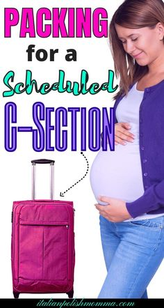 Are you packing for a scheduled c section? Here is the best c-section hospital bag checklist from a mom who had 4 c-sections! Trust me, you won't want to forget these hospital bag must haves for your scheduled c-section! Hospital Bag List, Hospital Bag For Mom To Be, Hospital Bag Checklist, Breastfeeding After C Section, Breastfeeding Tips, Pregnancy Information, Pregnancy Advice, C Section Workout, Scheduled C Section