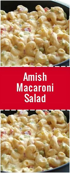 Ingredients 2 cups uncooked elbow hard-cooked eggs small onion stalks celery small red bell pepper seeded and tablespoons dill pickle cups creamy salad dressing e g Miracle Whip 3 tablespoons prepared yellow Creamy Salad Dressing, Salad Dressing Recipes, Pasta Salad Recipes, Mac Salad Recipe, Creamy Macaroni Salad, Best Macaroni Salad, Shrimp Macaroni Salad, Macaroni Cheese, Amish Recipes