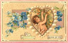 Frances Brundage vitntage postcard