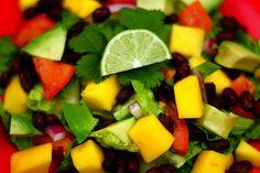 Black bean, avocado, and mango salad