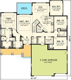 Plan 89852AH: Craftsman Ranch with Sunroom | Pinterest | Craftsman ...