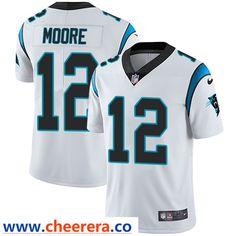 958ad3d3 Nike Carolina Panthers #12 DJ Moore White Men's Stitched NFL Vapor  Untouchable Limited Jersey