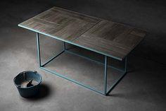Tavolo cemento grezzo faccia vista