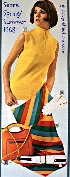 Don't forget...GRoooovy accessories make the outfit shine! #Sears #1968 #Groovy #fashion