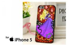 Aurora Stained Glass Disney Princess Case for iPhone 4/4S/5/5S/5C,Samsung Galaxy S2/S3/S4
