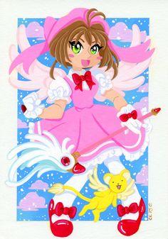 Cardcaptor Sakura Original Gouache Painting by CarliefornyaArt
