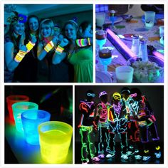 black light party new year themes