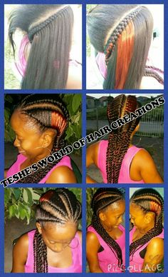 Jumbo tree braid cornrows.