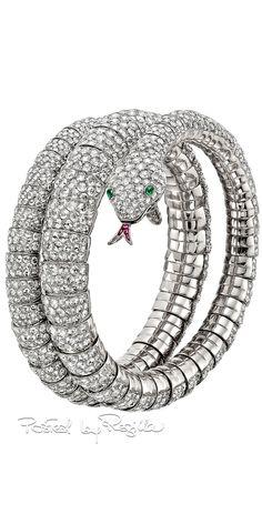 Diamond-snake-wrap-bracelet ♥ I am very thankful for them ♥ Snake Jewelry, Animal Jewelry, Jewelry Box, Fine Jewelry, Diamond Bracelets, Bangle Bracelets, Bangles, Reptiles, Harry Potter Ring