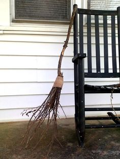 How to make a rustic witch broom. fly at your own risk