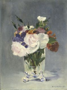 Edouard Manet - Flowers in a Crystal Vase [c.1882].