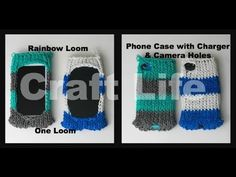 Craft Life Rainbow Loom Phone Case with Camera & Charger Holes ~ 1 Loom Tutorial