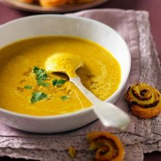 Soupe de lentilles corail au curry