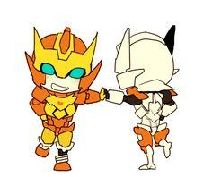 chibi rodimus and chibi drift !!! So cuteeeeeeeeeeeee!!!!!