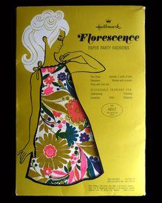 Mod 1960s Paper Dress in Original Packaging