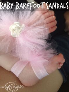 You can make these baby barefoot sandals in just a few minutes - really!   createandbabble.com   #DIY #no sew #barefootsandals