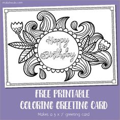 Free Downloadable Adult Coloring Greeting Cards | DIY Gifts ...