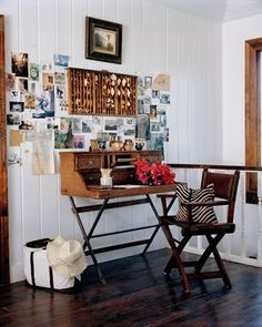 Oh, I want THIS desk, on THAT wall with THOSE floors. Yum! Wrap it up and call me done.