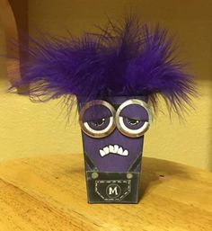 grumpy minion popcorn box thinlit by Teri French