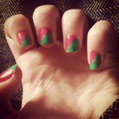 Sellotape nail art