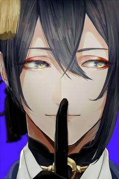 His eyes though Cute Anime Boy, Anime Guys, Fantasy Characters, Anime Characters, End Of Friendship, Touken Ranbu Mikazuki, Kaito Shion, Black Butler Anime, Boy Illustration