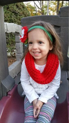 Toddler Chunky Ribbed Scarf Cowl Infinity Scarf by CherMeCreations on Etsy