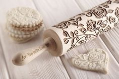 Hey, I found this really awesome Etsy listing at https://www.etsy.com/listing/250875070/roses-engraved-embossing-rolling-pin