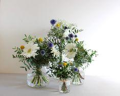 Centre de table pour mariage champêtre // Flower table centerpiece www.lapetiteboutiquedefleurs.fr
