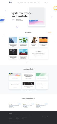 Systemic Research Institute - Homepage Design