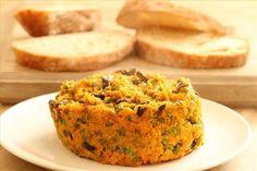 Gulerodsrand med champignon og ærter