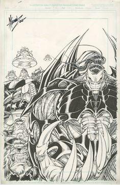 Original Comic Art titled Pitt Crew Cover *Dale Keown*, located in Erik's For Sale (maybe). Comic Book Artists, Artists Like, Comic Artist, Comic Books Art, Image Comics Characters, Comic Book Characters, Aspen Comics, Black White Art, Comic Book Covers
