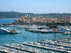 "If I were to move to France, one of the places I would think about living is Antibes. This beautiful city is ""anti"" or opposite Nice. Cap D Antibes, Antibes France, Provence France, Saint Tropez, Places In Europe, Places To Travel, Places To Go, Nice France, South Of France"