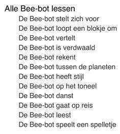 Bee-bot lessen Acadin: http://maken.wikiwijs.nl/41255/Inspirerend_leren_met_de_Bee_bot?p=pdf