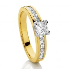 Canadian Fire 18ct 2 Tone Gold Diamond Engagement Ring