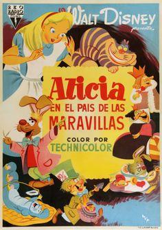 """""""Alicia en el pais de las maravillas"""", """"Alice in Wonderland"""" (1951)."""