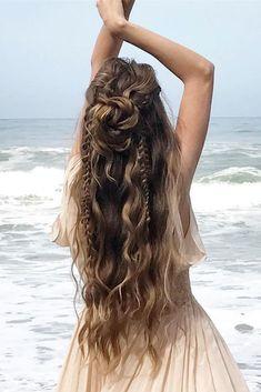 35 Boho Inspired Unique And Creative Wedding Hairstyle – My Stylish Zoo - - oldpic.site - 35 Boho Inspired Unique And Creative Wedding Hairstyle – My Stylish Zoo - 35 Boho Inspired Unique And Creative Wedding Hairstyle – My Stylish Zoo - Wedding Hair Down, Wedding Hairstyles For Long Hair, Cute Hairstyles, Bohemian Hairstyles, Hairstyle Ideas, Hippie Wedding Hair, Stylish Hairstyles, Office Hairstyles, Anime Hairstyles